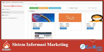 Aplikasi Sistem Informasi Marketing menggunakan PHP